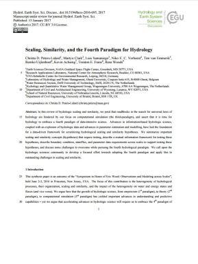 Fourth paradigm in hydrology.